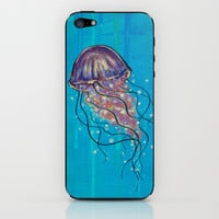 Float like a Jellyfish iPhone & iPod Skin by Jellywell Art