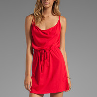 Bobi Supreme Jersey Tie Waist Dress in Bali