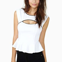 Edge Of Heaven Peplum Top