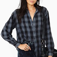 After Party Vintage Surefire Flannel - Charcoal