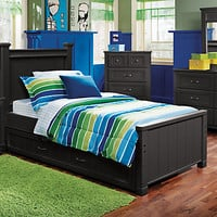Cottage Colors Black 5 Pc Full Panel Bedroom