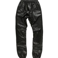 LEATHER DROP RISE TRACKIES
