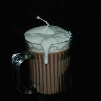 Hot Chocolate Scented Handmade Candle with Vanilla Cream Topping