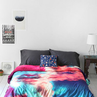 Caleb Troy For DENY Yin-Yang Painted Cloud Duvet Cover - Urban Outfitters