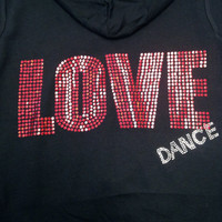 LOVE DANCE Jacket Hoodie Sweatshirt - (7 Customizable Colors)