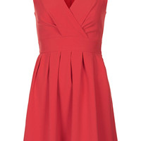 **V NECK TIE BACK DRESS BY WAL G