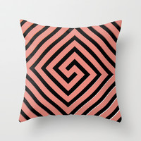Peachy Greek Throw Pillow by Lyle Hatch