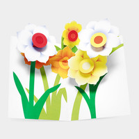 Pop-Up Daffodils Note Cards | MoMA