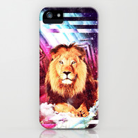 Space Lion - for iphone iPhone & iPod Case by Simone Morana Cyla