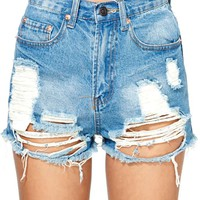 Summer Sky Cutoff Shorts