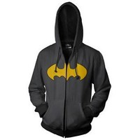 Batman Logo Men's Zip Hooded Sweatshirt
