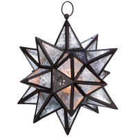 Zingz & Thingz Exotic Star Iron and Glass Lantern