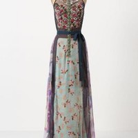 Wilderflora Patchwork Maxi Dress  - Anthropologie.com