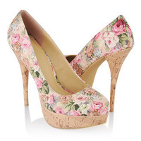 Floral Stiletto Pumps