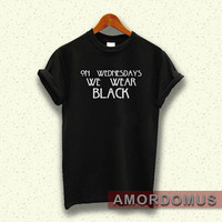 American Horror story shirt on wednesdays we wear black t-shirt black MA25