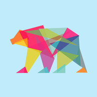 Fractal Bear - neon colorways Art Print by Budi Satria Kwan