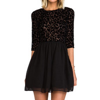 BB Dakota Corella Chiffon Long Sleeve Dress in Black from REVOLVEclothing.com