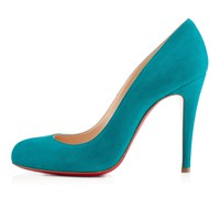 RON RON VEAU VELOURS,BLACK,Suede,Louboutin,Women Shoes