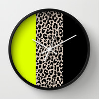 Leopard National Flag V Wall Clock by M Studio