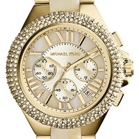 Michael Kors 'Camille' Crystal Bezel Chronograph Bracelet Watch, 43mm | Nordstrom