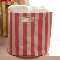 Pehr Striped Canvas Bin - Pink - See Jane Work