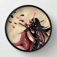 Sarah oriantal woman Wall Clock by LouJah