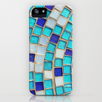 Blue Tiles - an abstract photograph. iPhone & iPod Case by Amelia Kay Photography