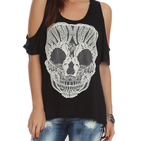 Teenage Runaway Skull Applique Top