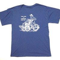 TIN TIN Cambodge Phnom Penh T-SHIRT BLUE Grey COLOR (L/L) SIZE Soft Feel