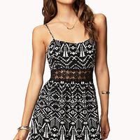 Crocheted Tribal Print Dress