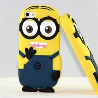 New arrival soft rubber Despicable Me minions case for iphone 4 4s cell phone cases covers to iphone4 free shipping