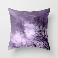 Purple Night  - JUSTART © Throw Pillow by JUSTART