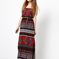 New Look Woven Bandeau Maxi Dress