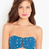 Angled Zip Bandeau - Graphic in  Clothes at Nasty Gal
