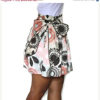 Retro Flower Mini Skirt by LoNaDesign