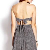 Retro Printed Strapless Dress