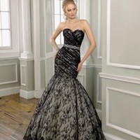 Sweetheart Lace taffeta Mermaid Wedding Dress - Basadress.com