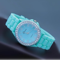 Mint Color Silicone Watch 04