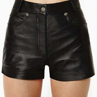 After Party Vintage Drag City Leather Shorts