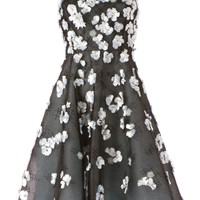 OSCAR DE LA RENTA floral embellished dress
