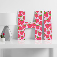 Lisa Argyropoulos Strawberry Sweet In Pink Decorative Letters