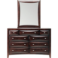 Ivy League Cherry Dresser Mirror Set