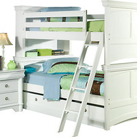 Oberon 7 Pc White Bunk Bed