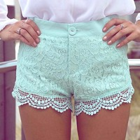 Mint-green-lace-shorts