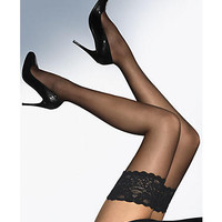 Wolford Satin Touch Evening Thigh Highs Hosiery 212-23 at BareNecessities.com