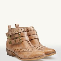Perforated Cowgirl Booties