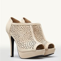 Flower Perforated Booties