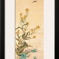 February Framed Giclee Print by Sakai Hoitsu at Art.com