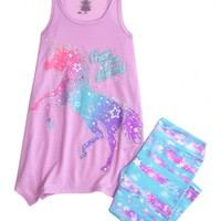 Unicorn Capri Legging Pajama Set