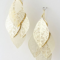 Golden Leaf Chandelier Earrings | Emma Stine Jewelry Earrings